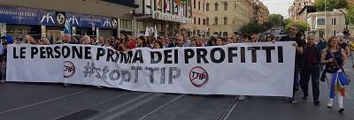 LAV Roma alla marcia Stop TTIP del 7 maggio 2016