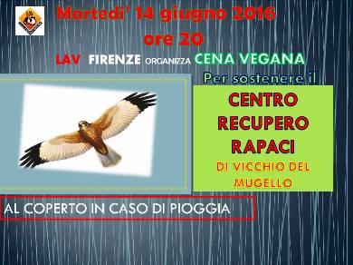 SOSTEGNO  PER IL CENTRO RECUPERO RAPACI DI VICCHIO DI MUGELLO