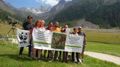 LAV e WWF - Escursione contro la caccia nei parchi naturali.