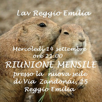 RIUNIONE MENSILE SETTEMBRE 2016