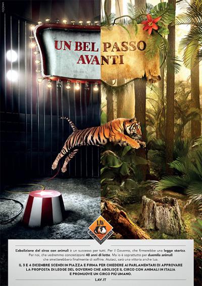 Comunicato LAV Roma. LAV in piazza anche a Roma il 3 e 4 dicembre per sostenere il disegno di legge per la graduale dismissione degli animali nei circhi