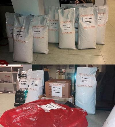 LAV Roma ha consegnato 11 sacchi da 15kg e altro materiale per aiutare gli animali delle zone colpite dal sisma, presto la distribuzione nel territorio