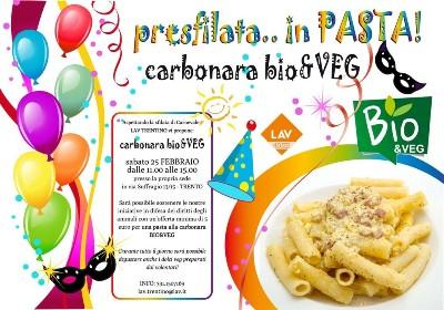 presfilata.. in PASTA! Carbonara BIO&VEG!
