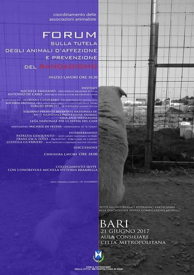 Forum associazioni animaliste/protezioniste