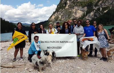 No alla caccia nei parchi naturali, evento organizzato da LAV, LAC, WWF e UGDA