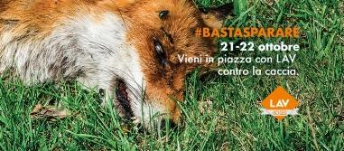 In piazza per abolire la caccia #BASTASPARARE