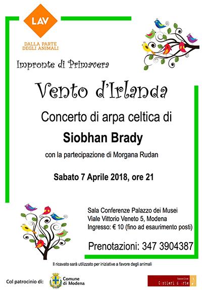 Vento d'Irlanda: Concerto LAV di arpa celtica