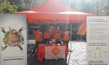 Il World Vegan Day di LAV Roma in centro città