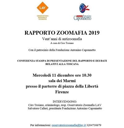 Presentazione Rapporto Zoomafia 2019